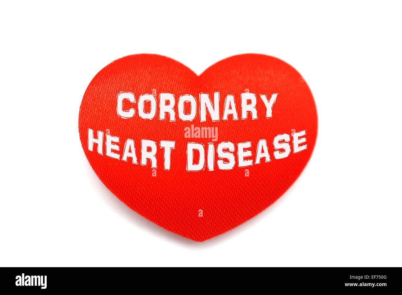 coronary heart disease - Stock Image