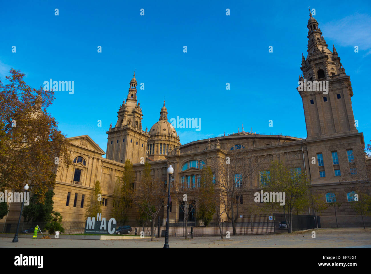 MNAC, Museum of Catalonian Art, Montjuic, Barcelona, Spain - Stock Image