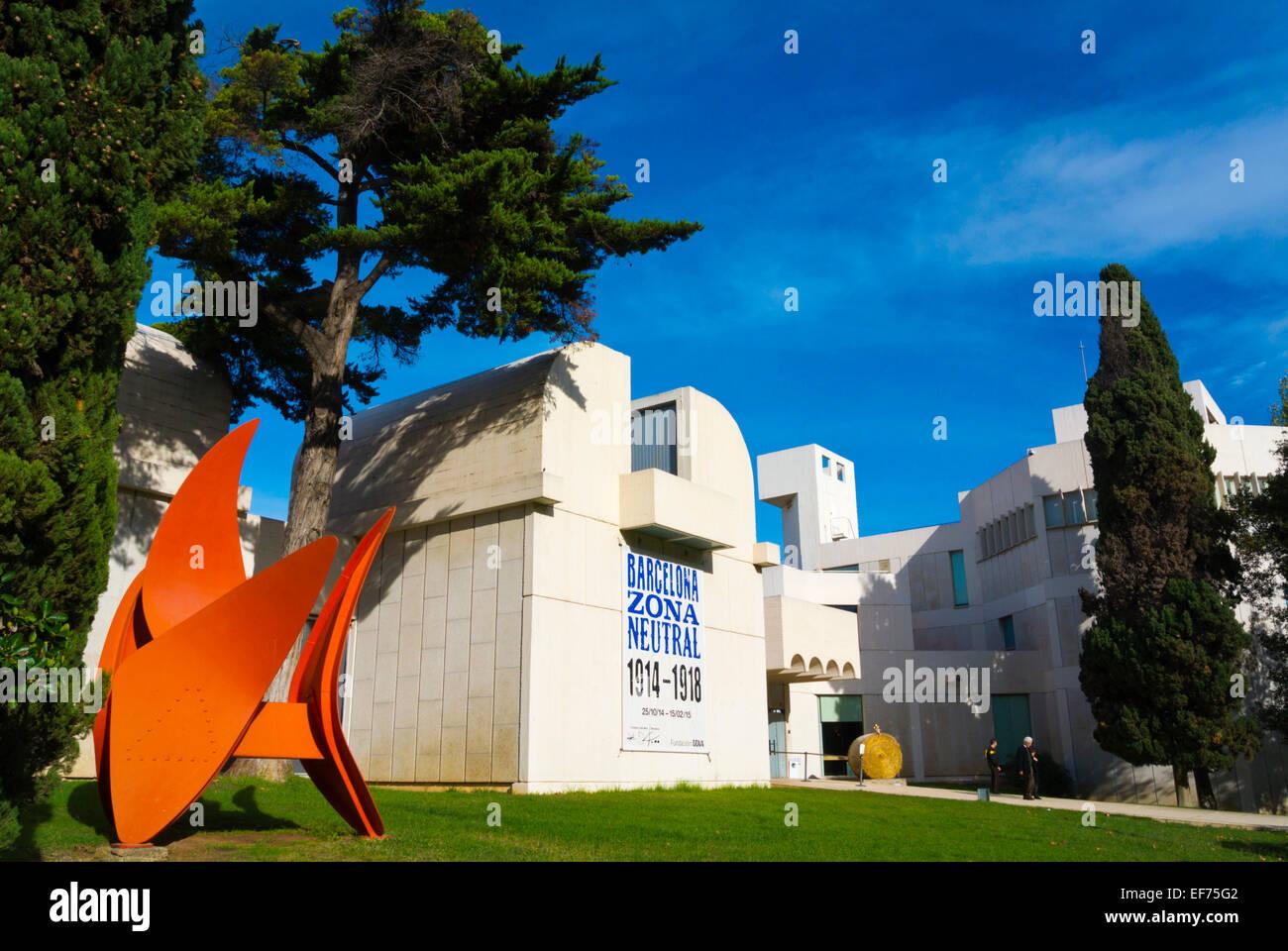 Fundacio Joan Miro, art gallery, Montjuic, Barcelona, Spain - Stock Image