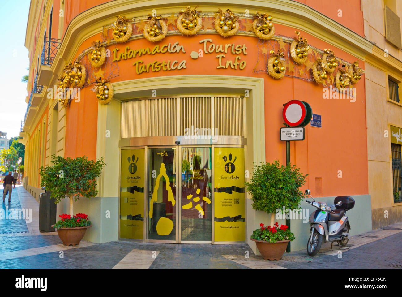 Tourist information office, Plaza del Cardenal Belluga square, old town, Murcia, Spain - Stock Image