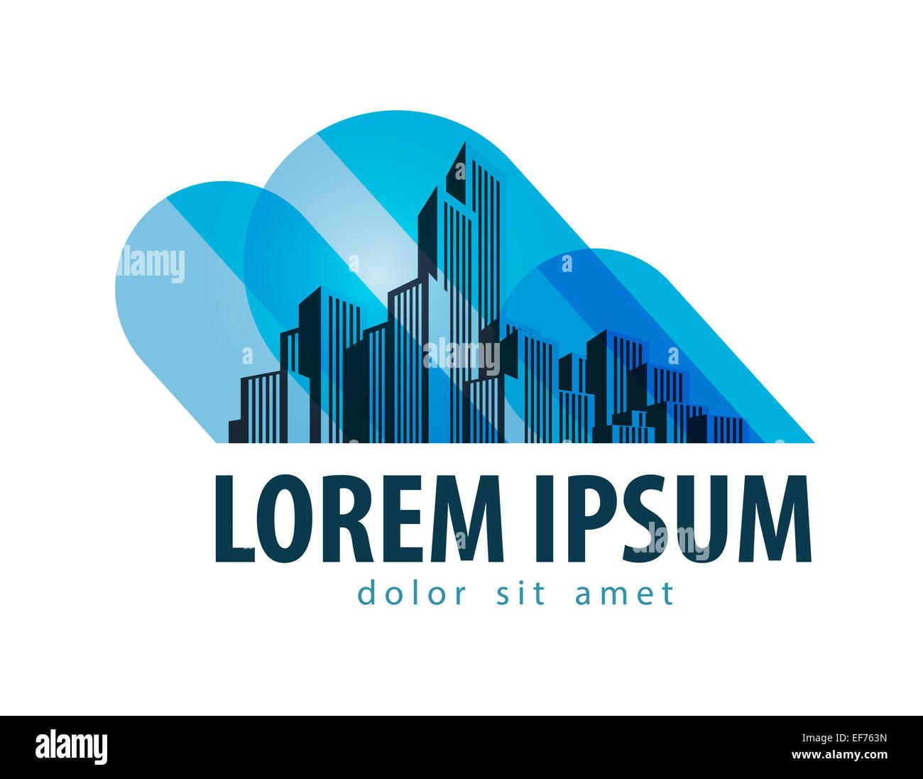 City vector logo design template. building or architecture icon. - Stock Image