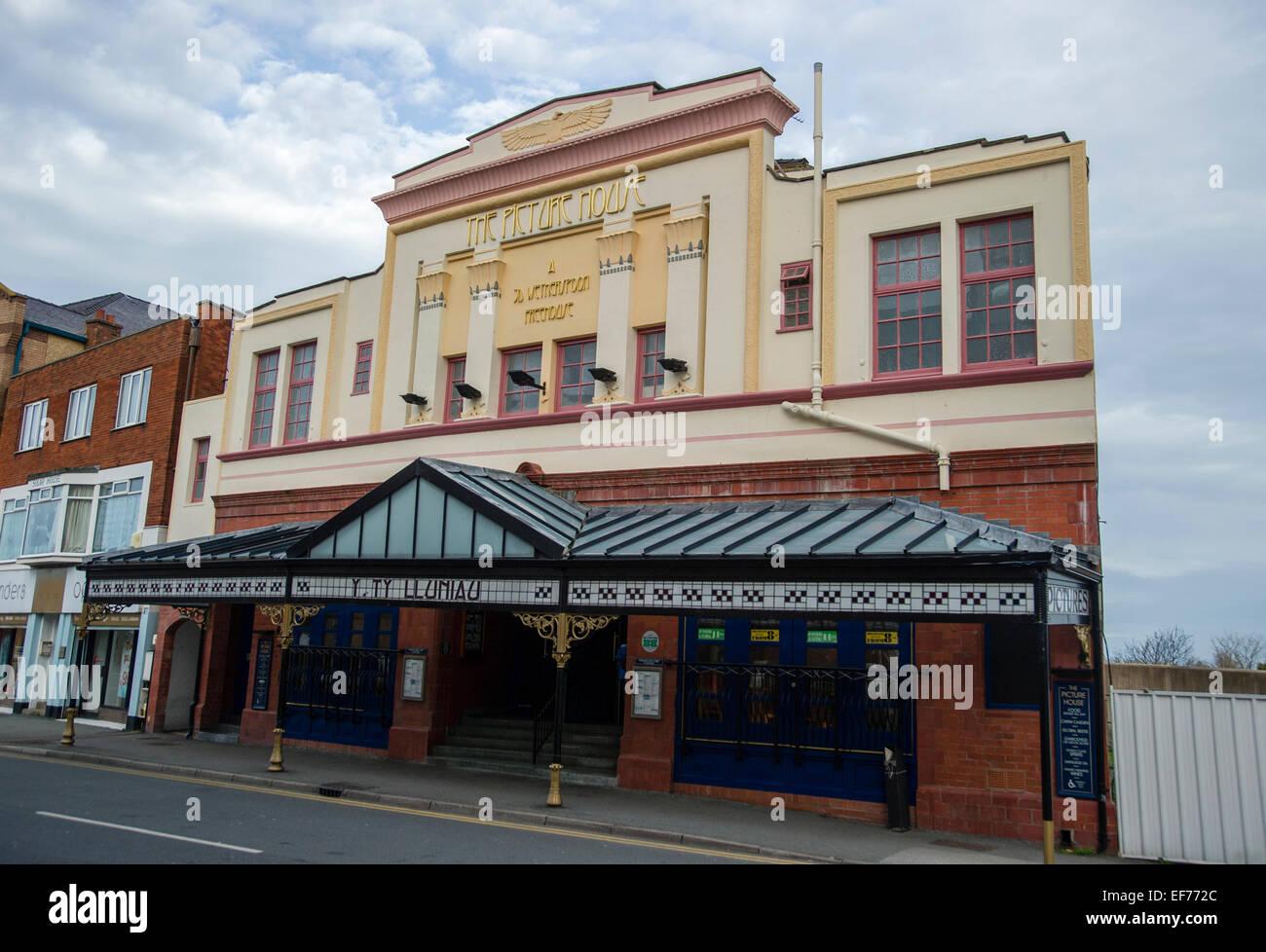The picture House pub Colwyn Bay Gwynedd North Wales - Stock Image