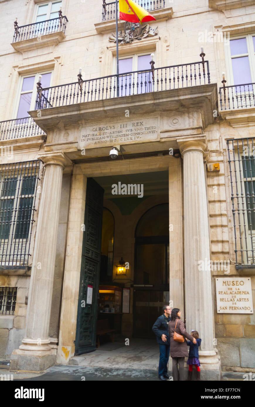 Real Academia de Bellas Artes de San Fernando, art museum, Madrid, Spain - Stock Image