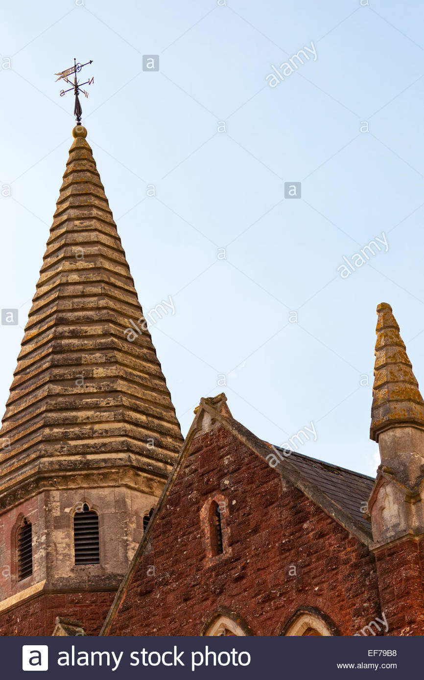 The spires of Chelston Methodist Church Torquay - Stock Image