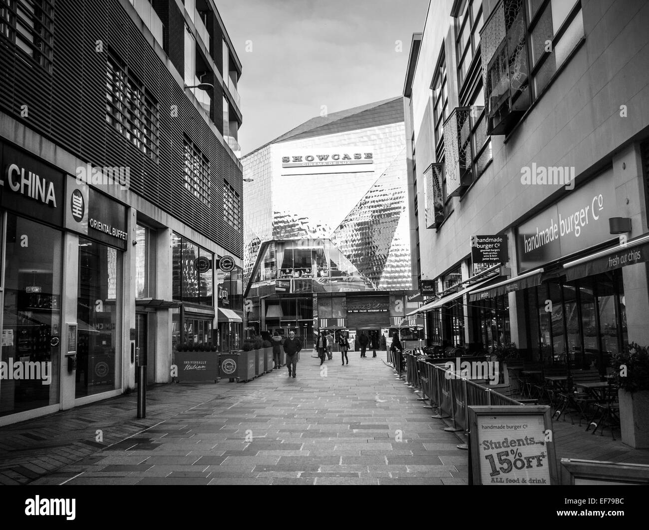 ST PAULS SQUARE, HIGHCROSS SHOPPING CENTRE, LEICESTER, ENGLAND.  General view of Showcase Cinema taken January 2015 - Stock Image