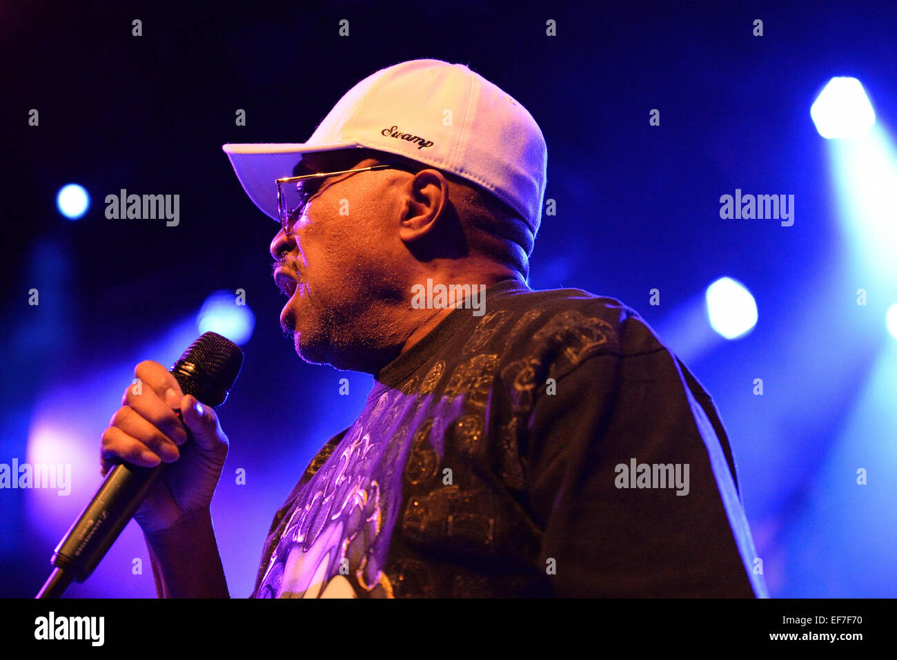 BARCELONA - MAY 15: Swamp Dogg, American soul music band, performance at Barts stage on May 15, 2014 in Barcelona, Stock Photo