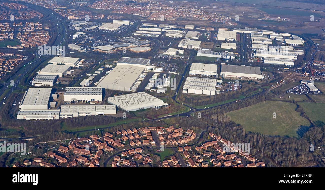 Distribution Warehouse Estate Milton Keynes, UK - Stock Image