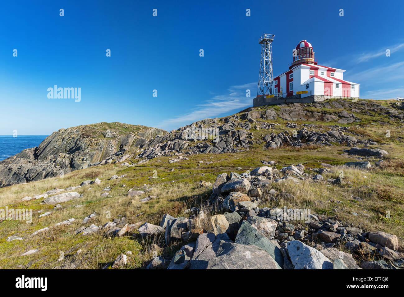 The lighthouse at Cape Bonavista, Bonavista, Newfoundland and Labrador - Stock Image