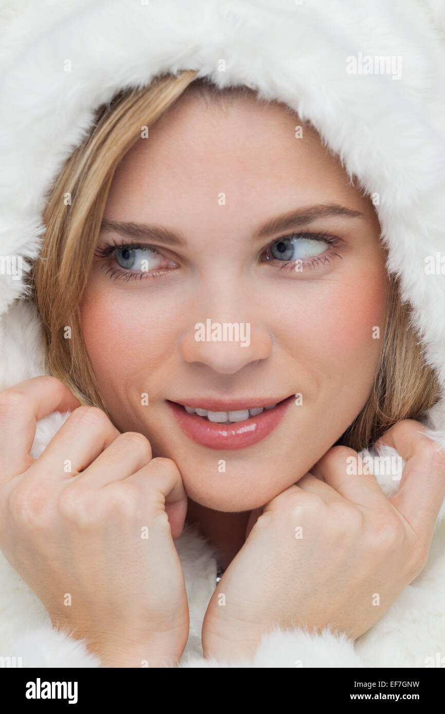 Close-up of a beautiful woman smiling - Stock Image