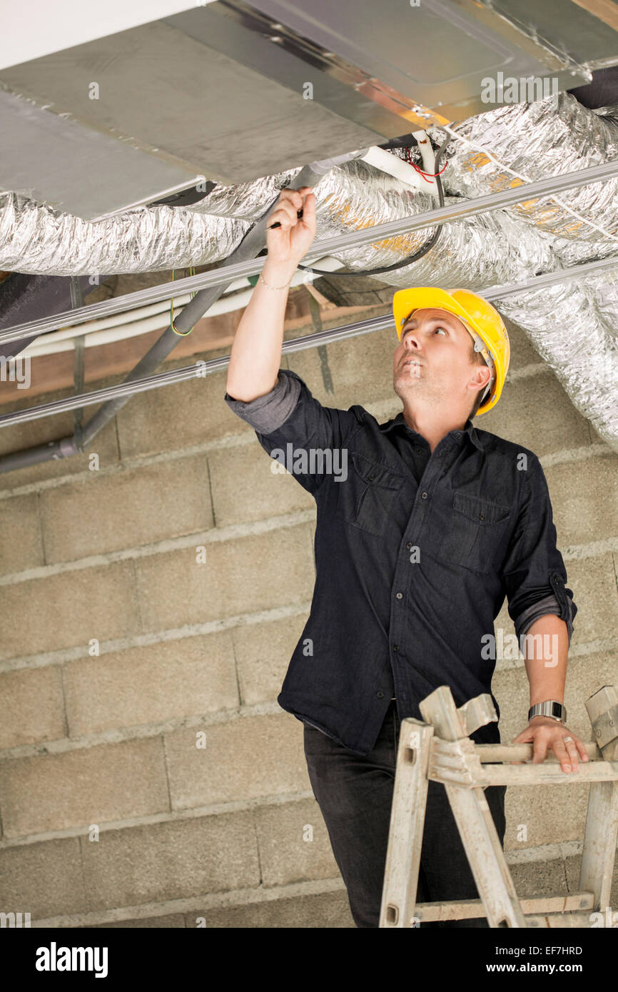Engineer working at site - Stock Image