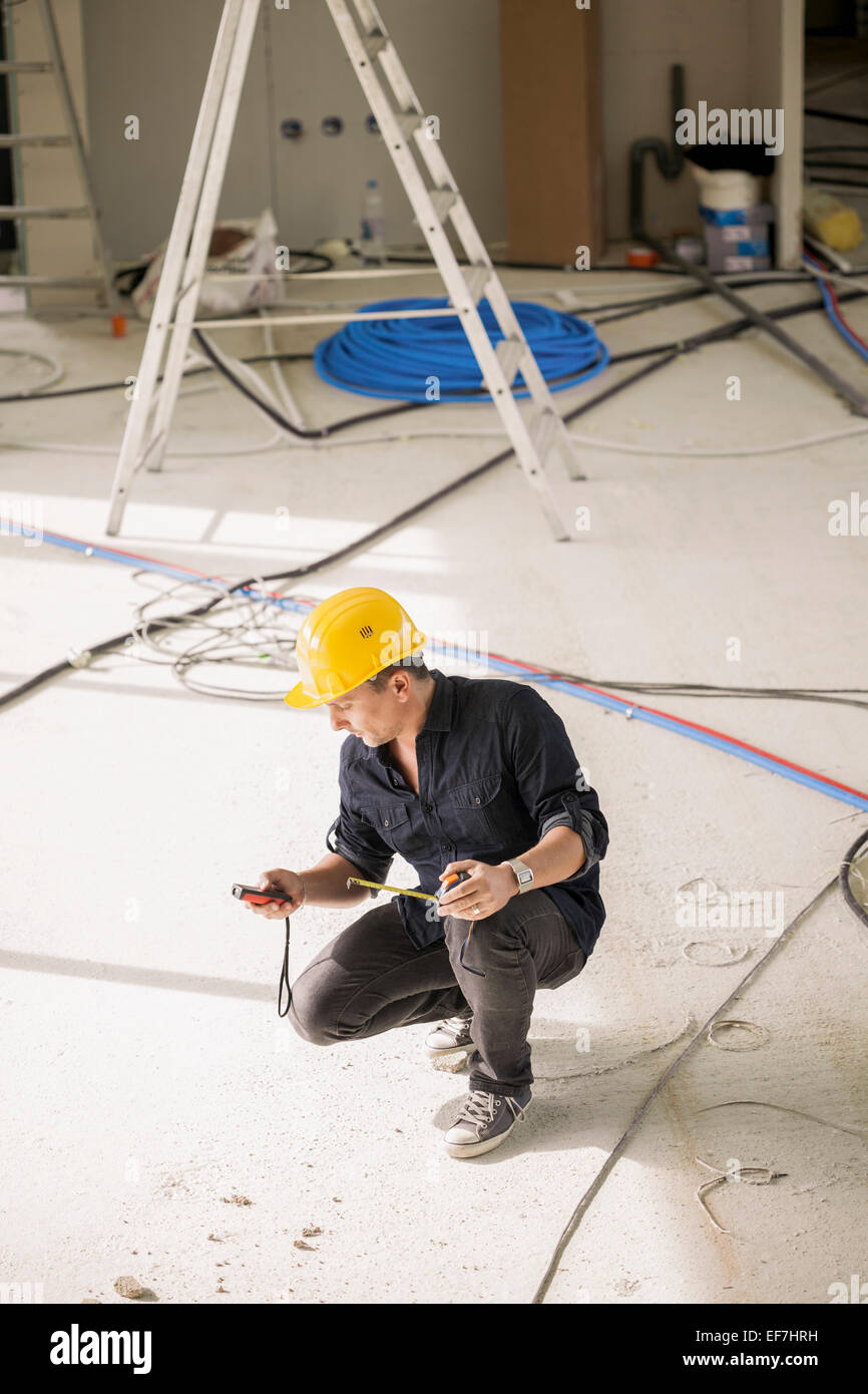 Engineer working at site Stock Photo