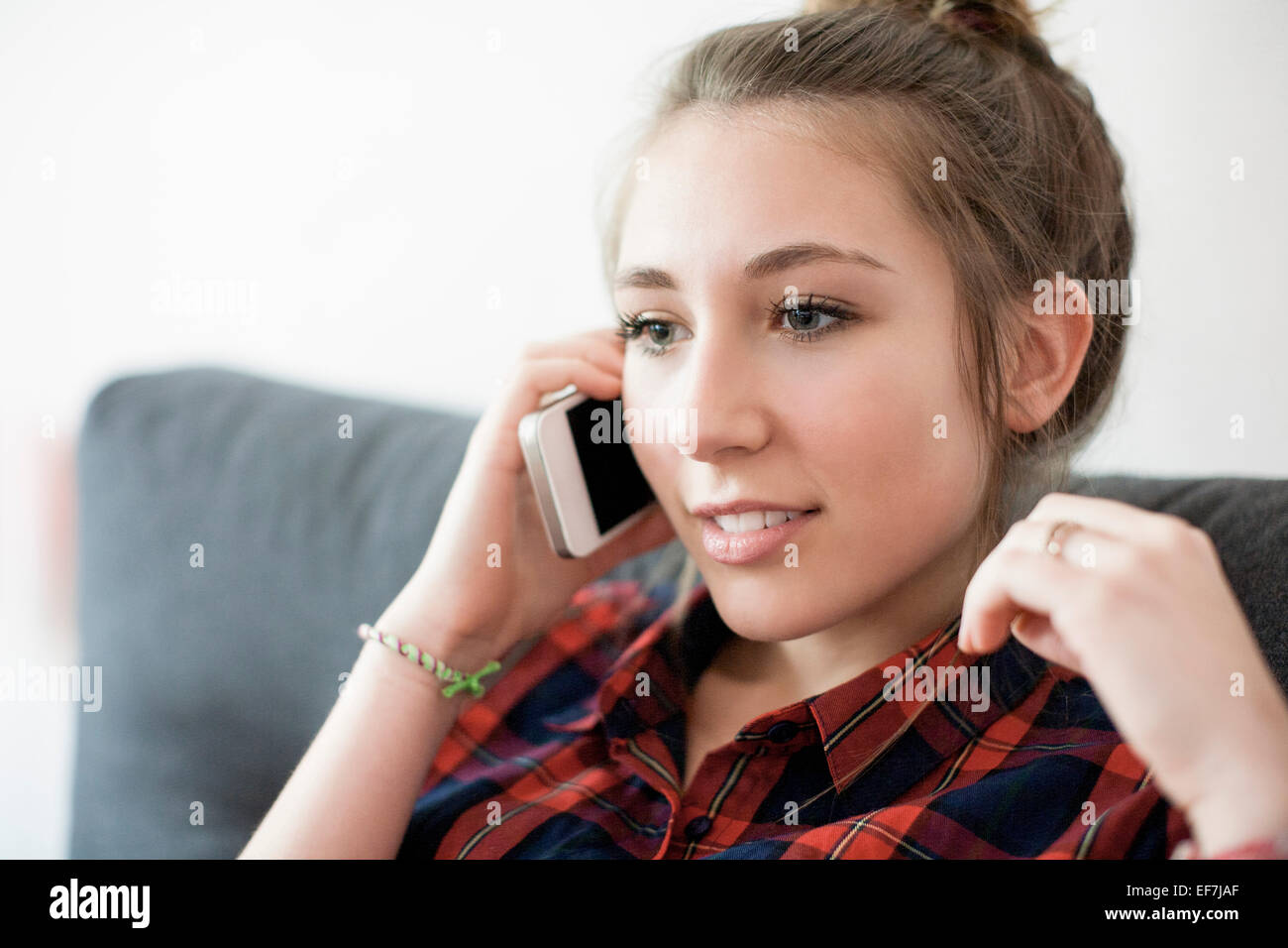 Girl on the phone - Stock Image
