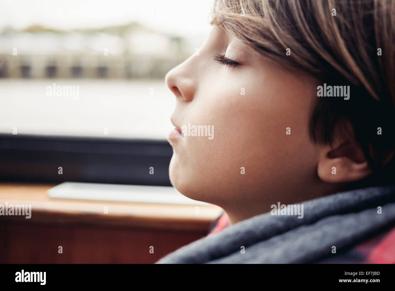 Boy sleeping - Stock Image