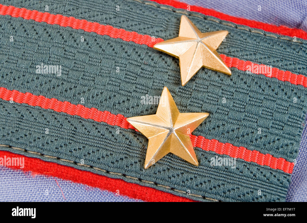Shoulder strap of  lieutenant colonel of russian police - Stock Image