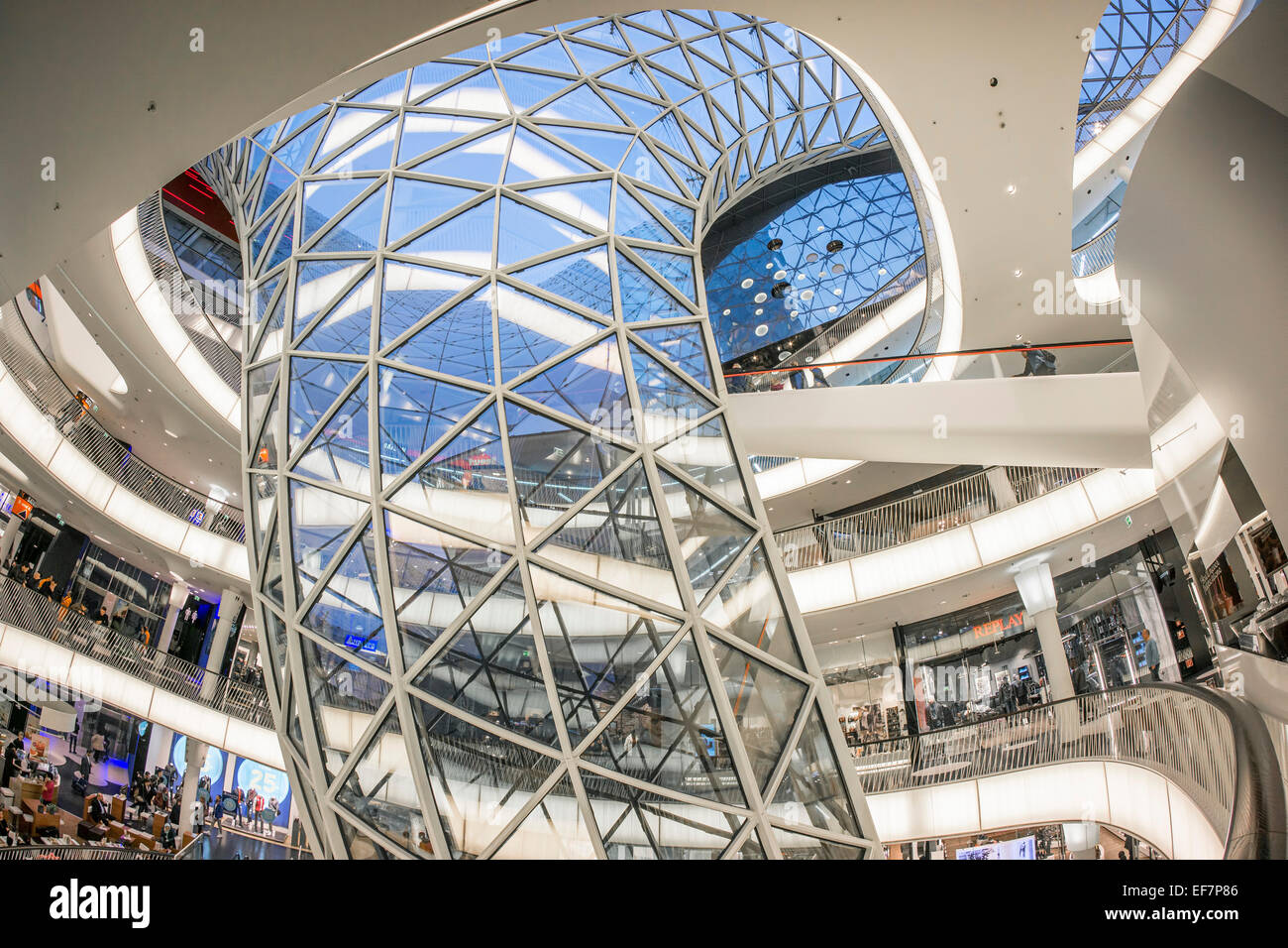 myzeil shopping mall modern architecture frankfurt hessen stock photo 78232454 alamy. Black Bedroom Furniture Sets. Home Design Ideas