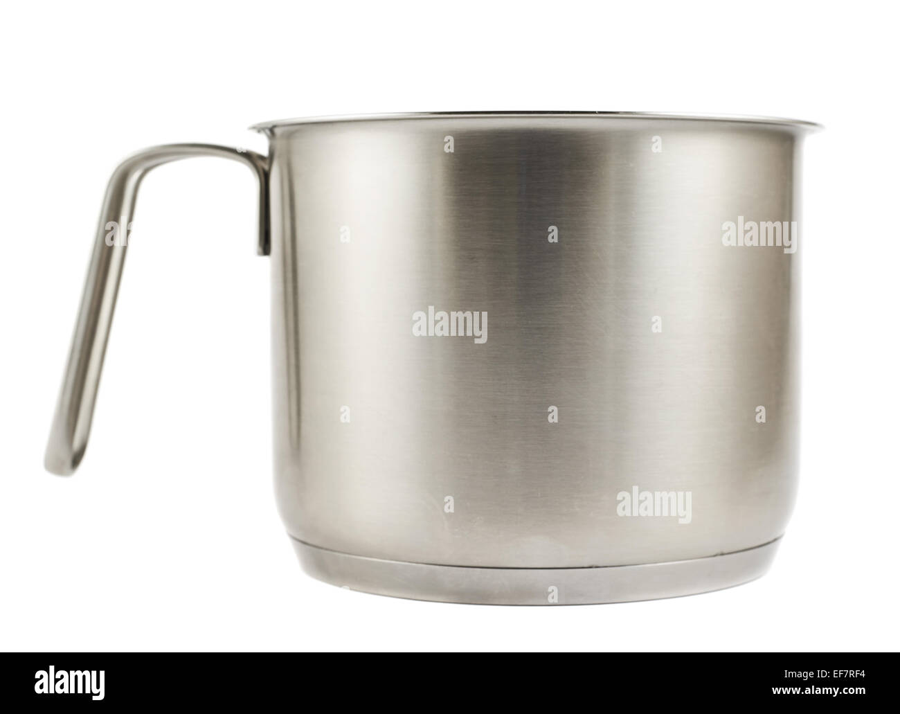 Stainless steel cooking pot isolated - Stock Image
