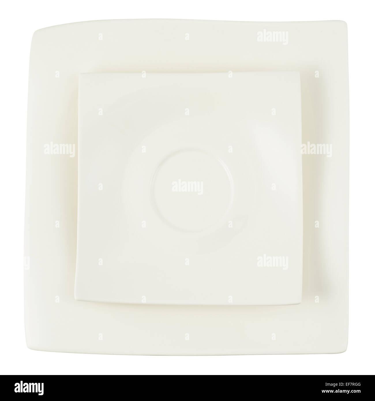 Two square ceramic plates composition  sc 1 st  Alamy & Two square ceramic plates composition Stock Photo: 78233472 - Alamy