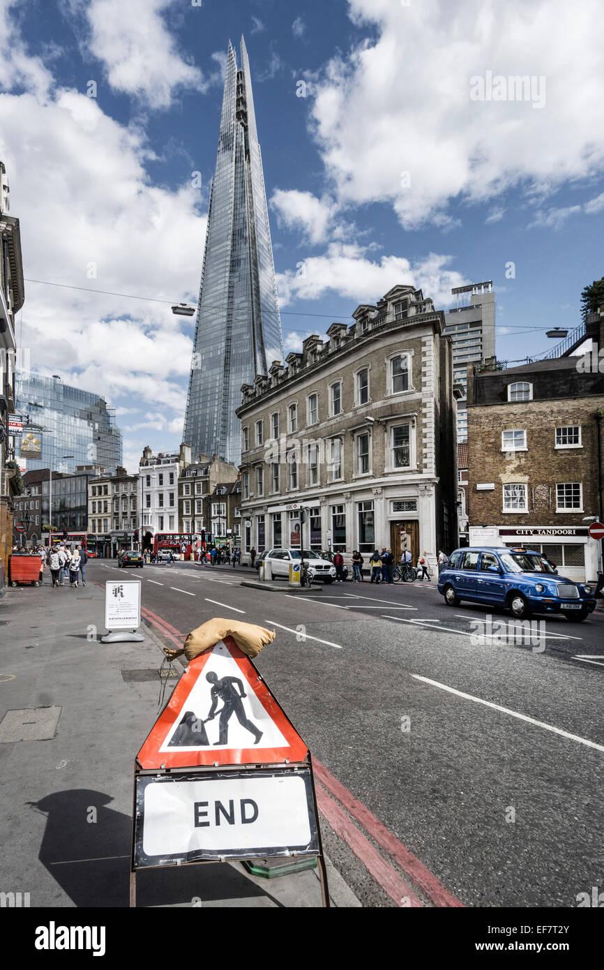The Shard , Architect  Renzo Piano, Southwalk, Clouds, London, UK - Stock Image