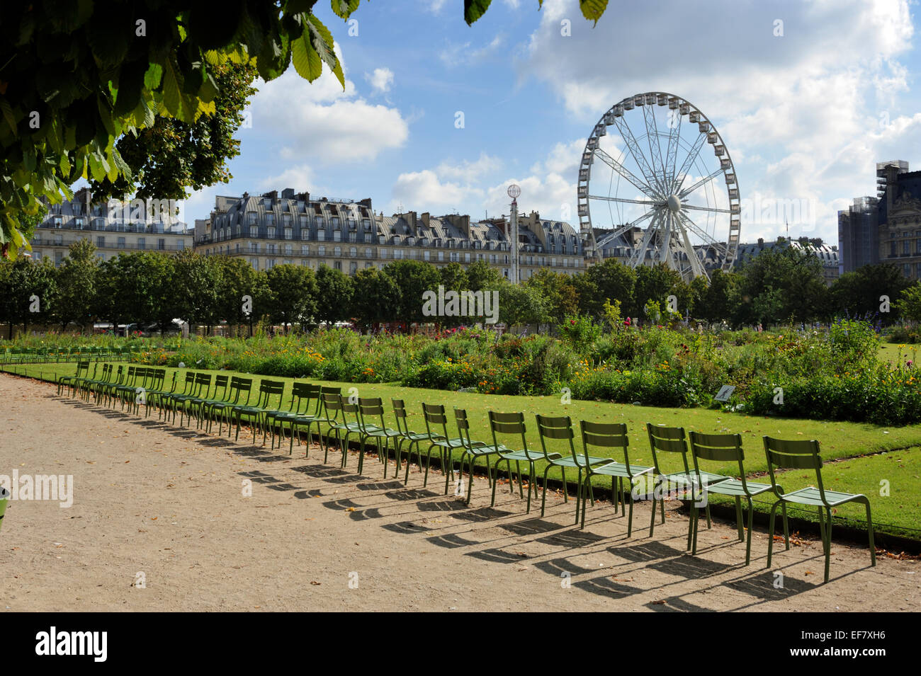 paris, jardin des tuileries garden - Stock Image