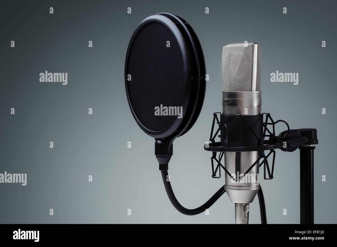 Studio microphone - Stock Image