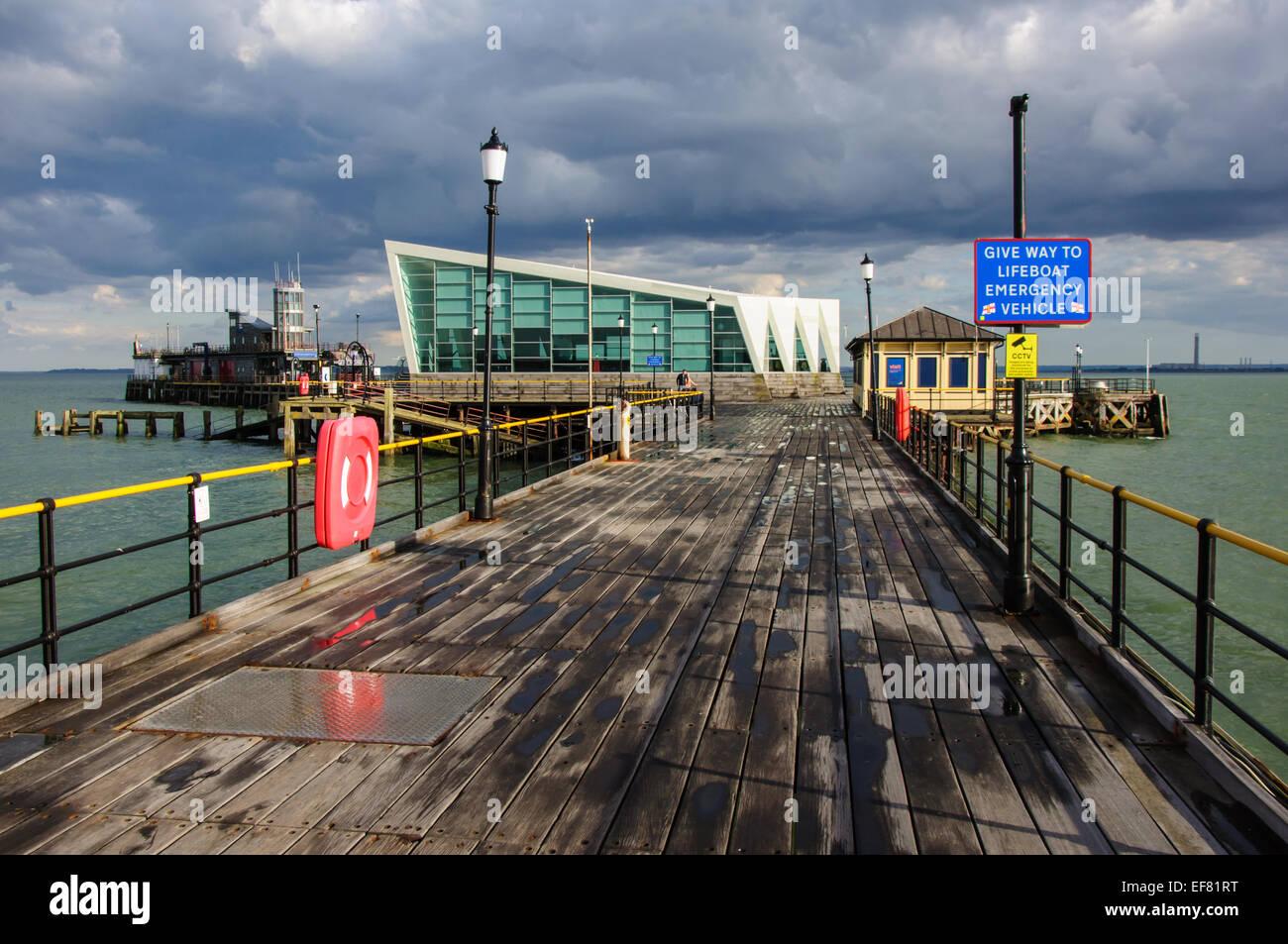 Southend-on-Sea pier. - Stock Image