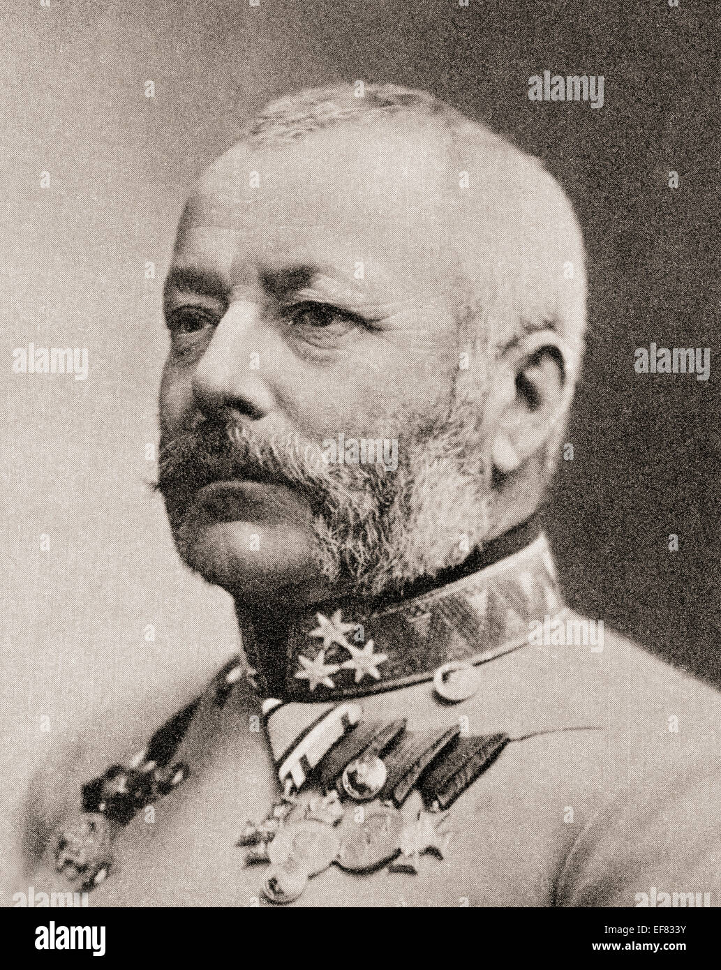 Archduke Friedrich, Duke of Teschen, 1856 – 1936.  Member of the House of Habsburg and the Supreme Commander of - Stock Image