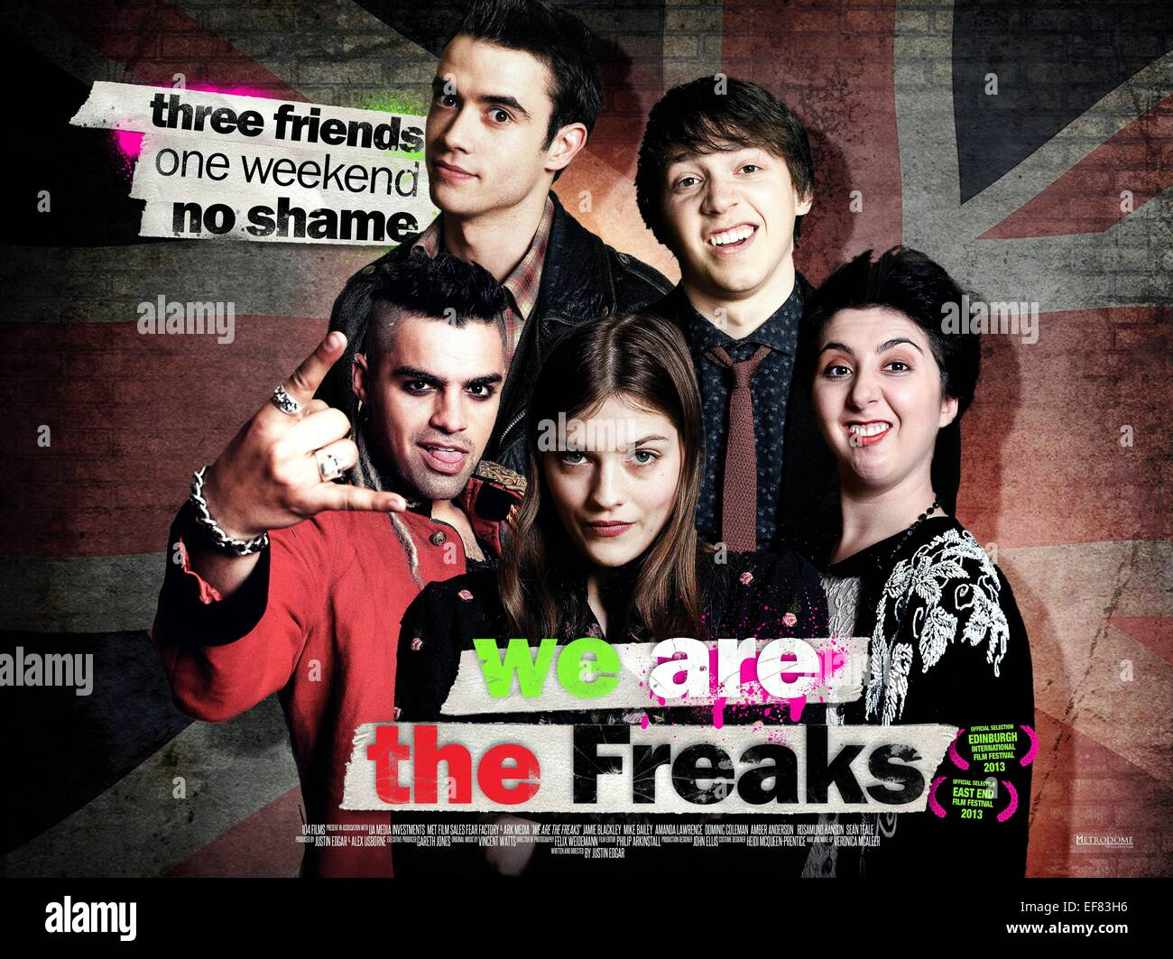 JAMIE BLACKLEY SEAN TEALE AMBER ANDERSON MIKE BAILEY & ROSAMUND HANSON POSTER WE ARE THE FREAKS (2013) - Stock Image