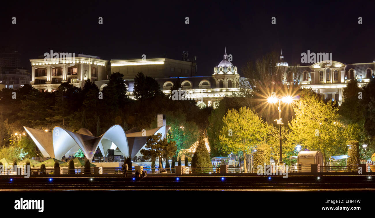 Boulevard in Baku - Stock Image