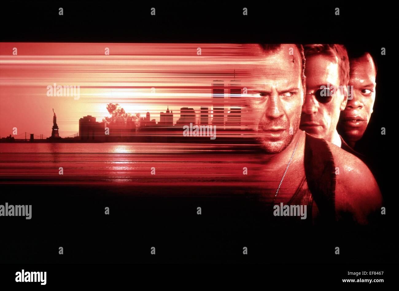 Bruce Willis Jeremy Irons Samuel L Jackson Movie Poster Die Hard Stock Photo Alamy