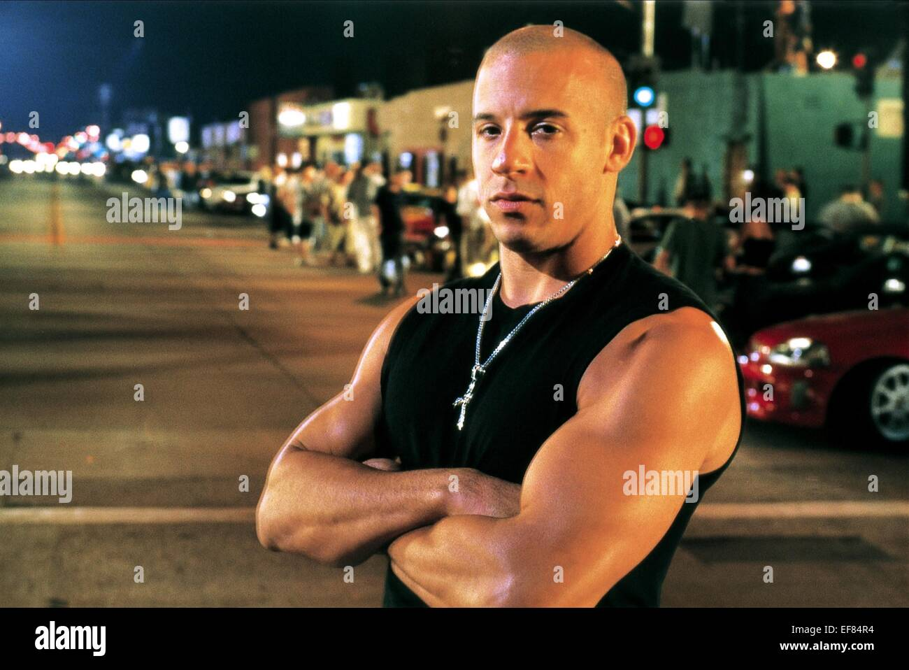vin diesel the fast and the furious 2001 stock photo 78240712 alamy. Black Bedroom Furniture Sets. Home Design Ideas