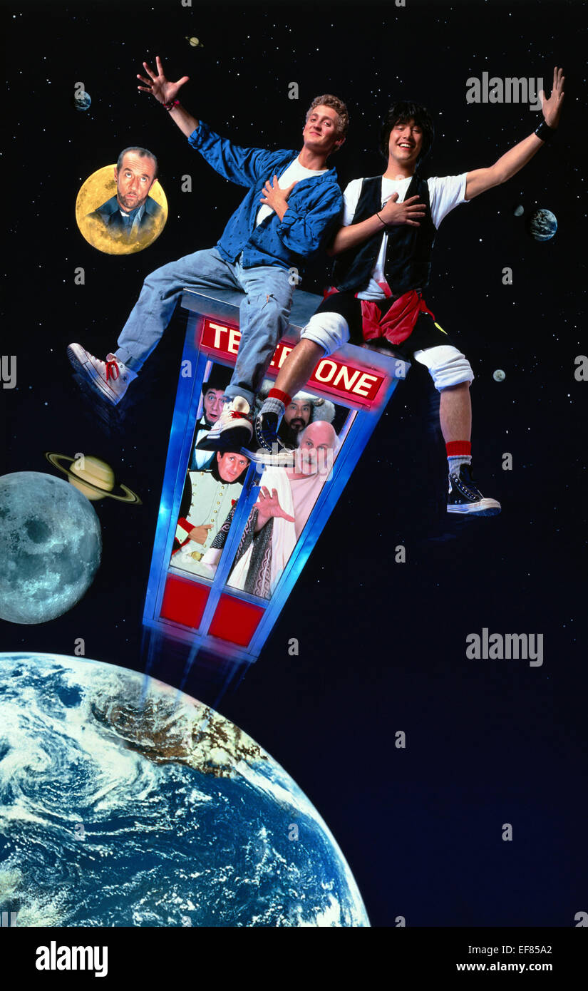 MOVIE POSTER BILL & TED'S EXCELLENT ADVENTURE (1989) - Stock Image