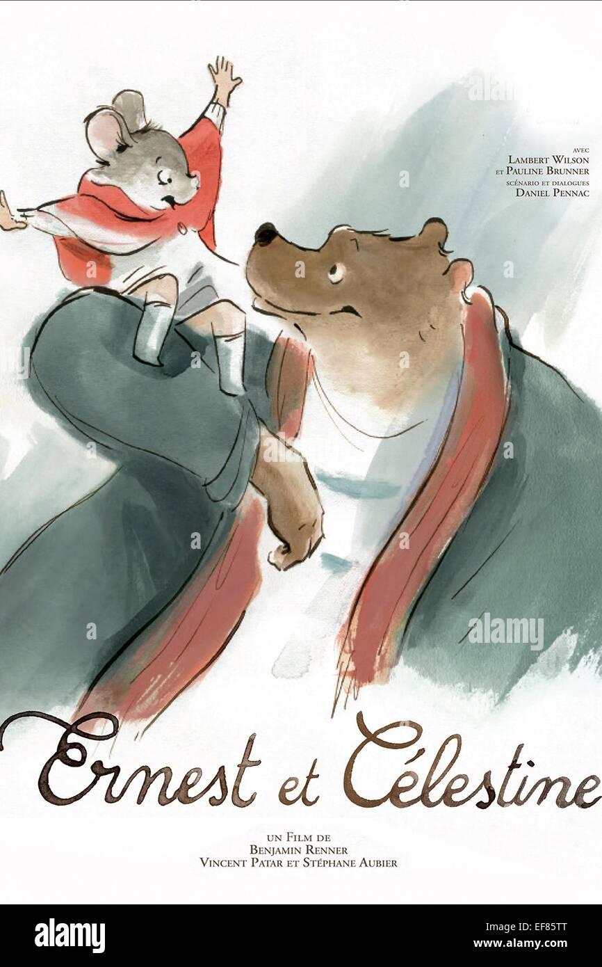 ERNEST & CELESTINE MOVIE POSTER ERNEST & CELESTINE (2012) - Stock Image