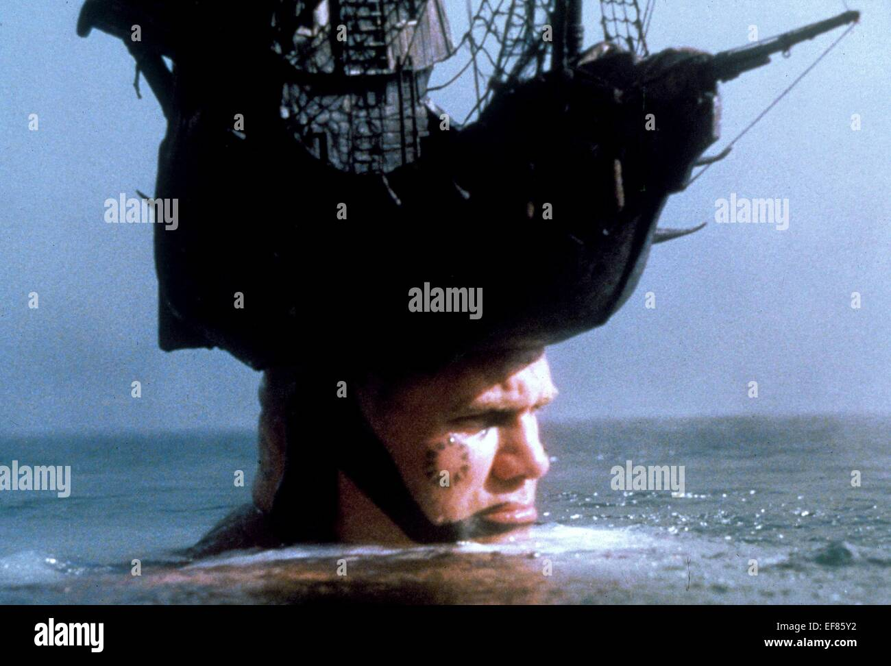 FANTASY VIEW WITH BOAT ON MANS HEAD TIME BANDITS (1981 Stock