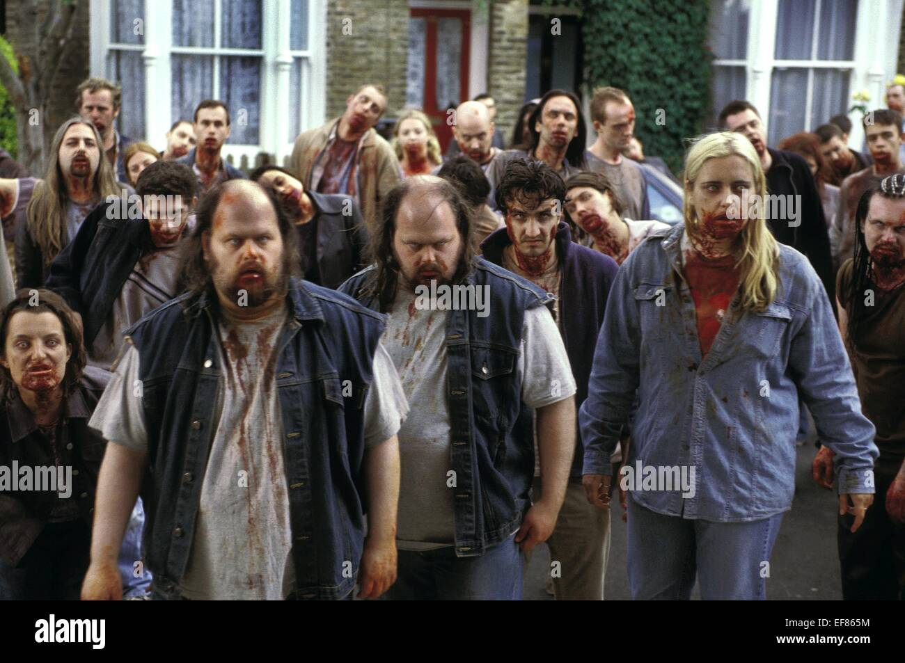 ZOMBIES SHAUN OF THE DEAD (2004) - Stock Image