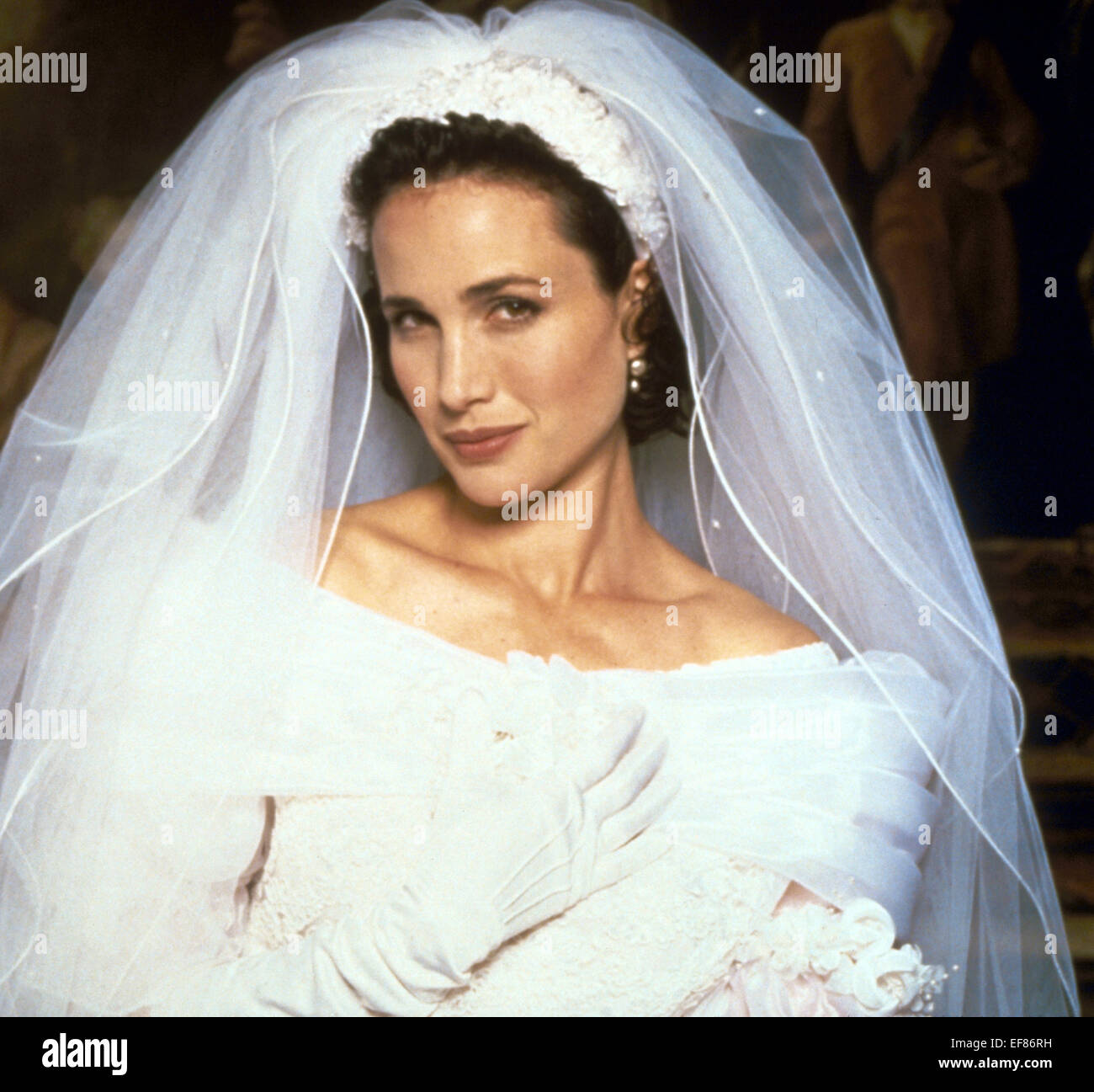 Four Weddings: ANDIE MACDOWELL FOUR WEDDINGS AND A FUNERAL (1994 Stock