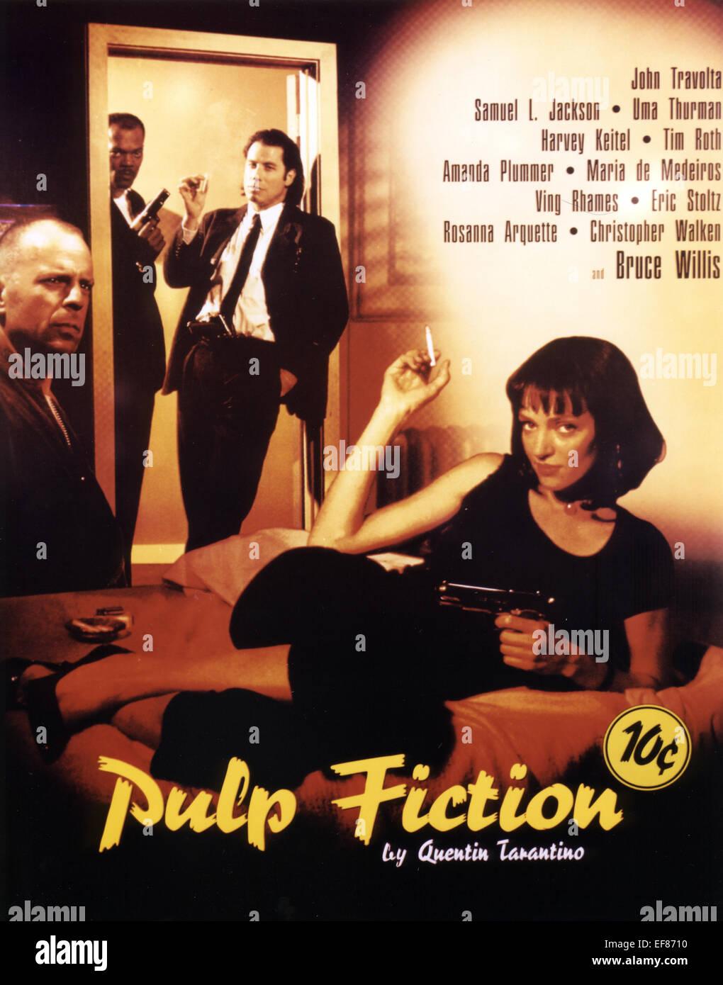 Movie Poster Pulp Fiction 1994 Stock Photo Alamy