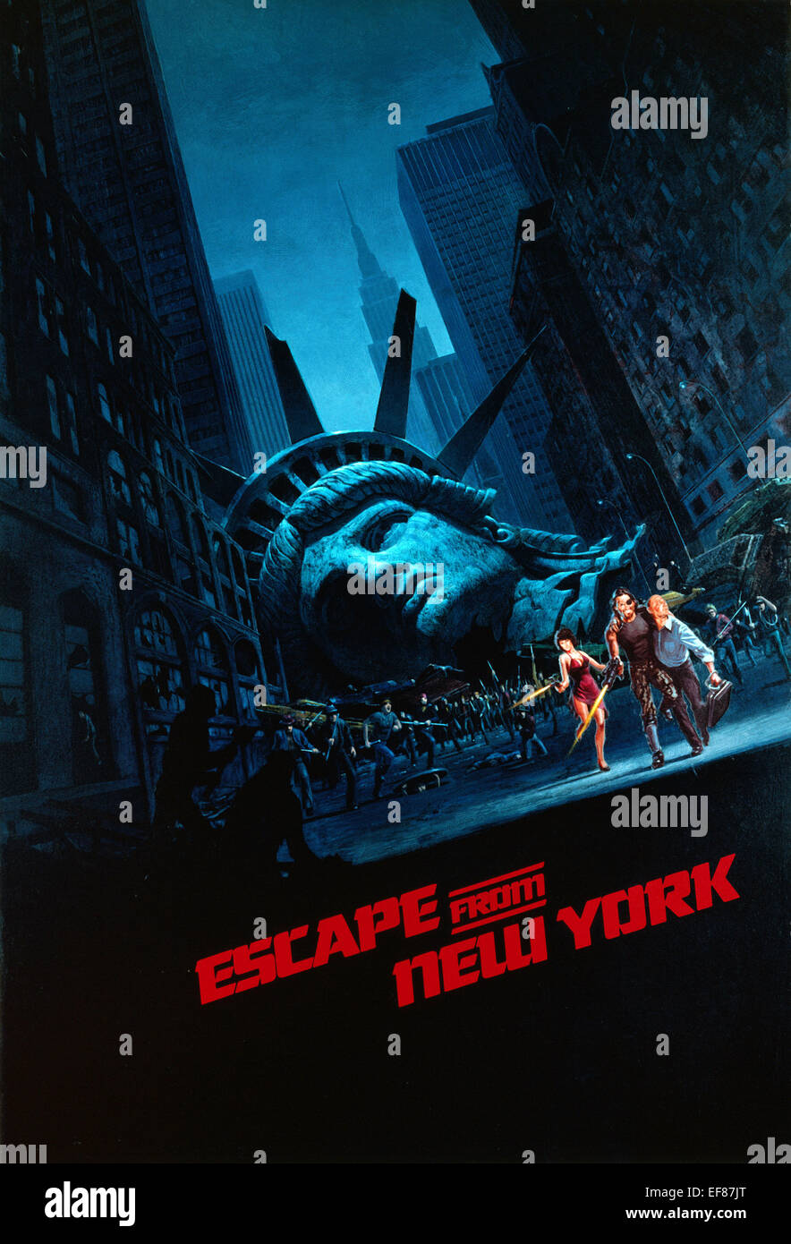 Escape From New York Poster.Movie Poster Escape From New York 1981 Stock Photo 78242944 Alamy
