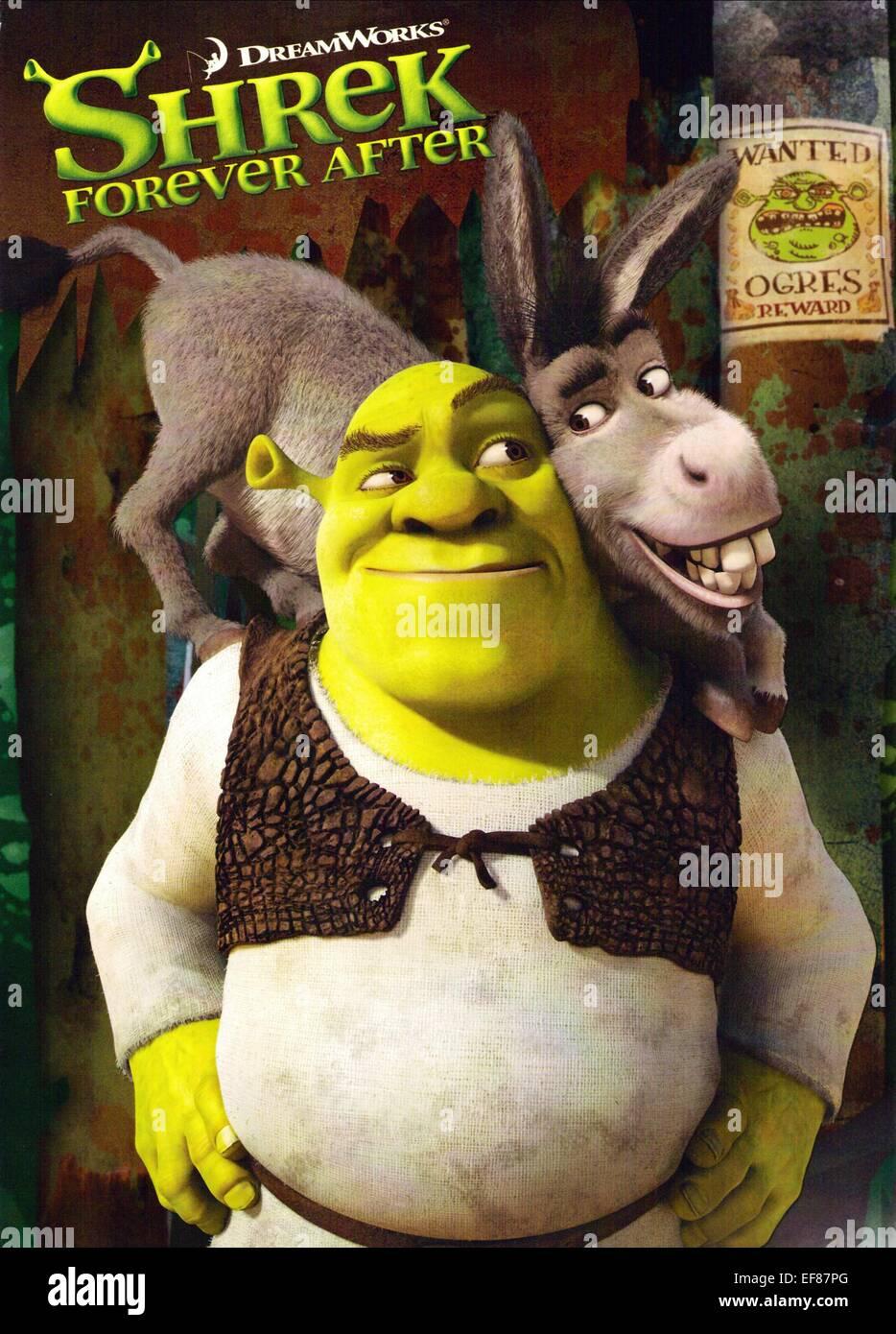 Shrek Donkey Poster Shrek Forever After 2010 Stock Photo