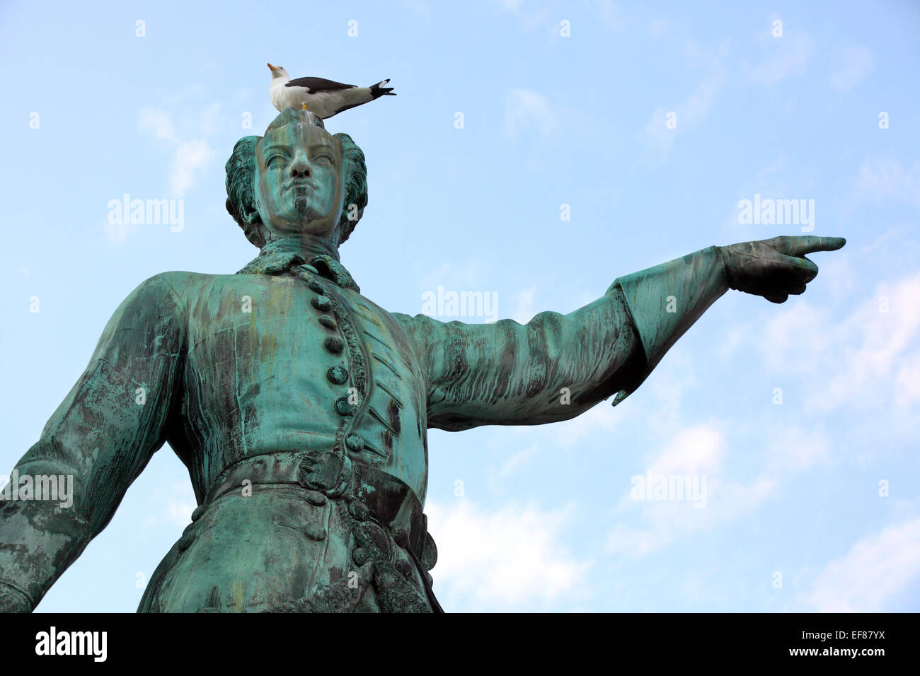 Statue of Karl XII king of Sweden in stockholm. Sweden. - Stock Image