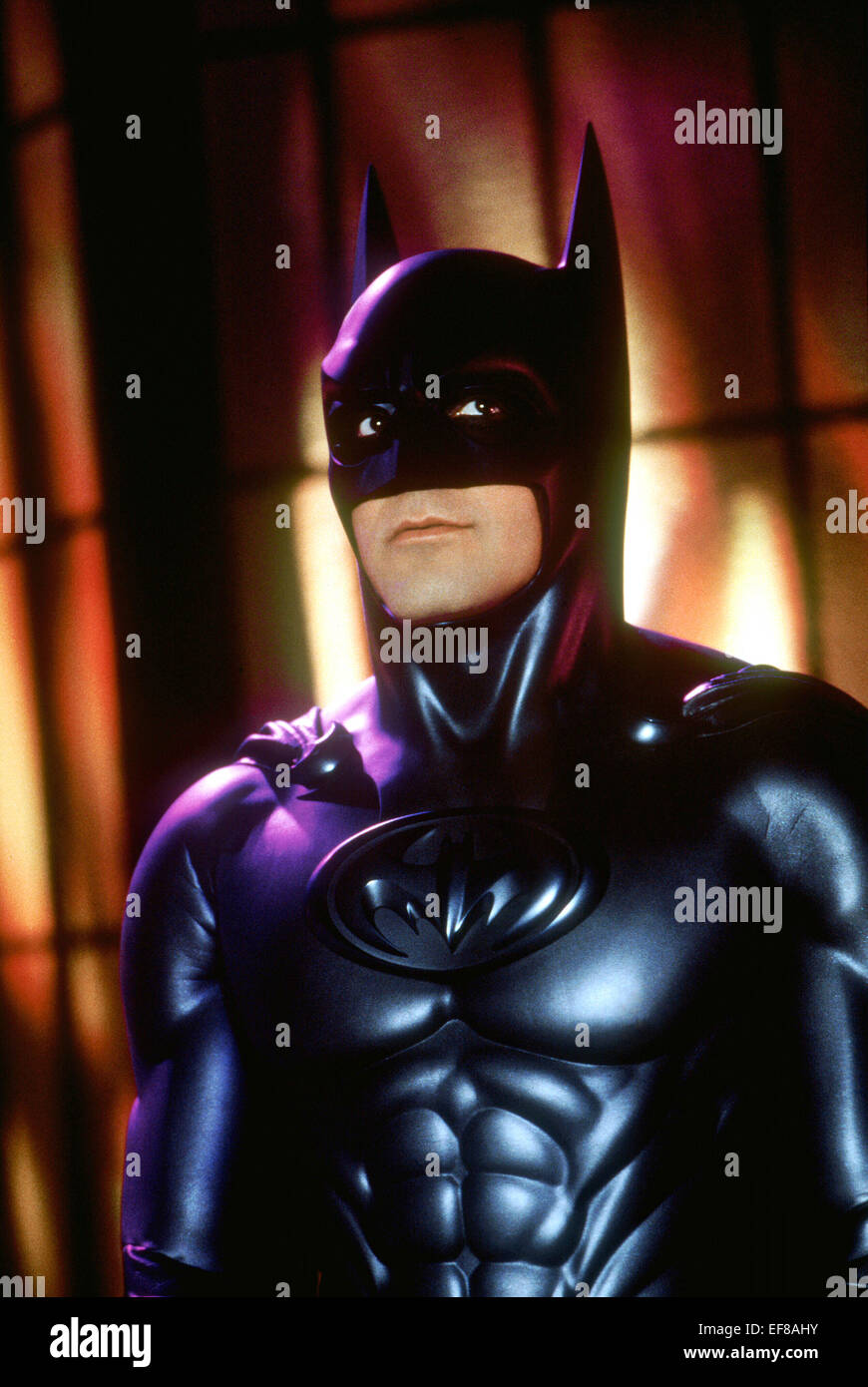 George Clooney Batman Robin 1997 Stock Photo Alamy