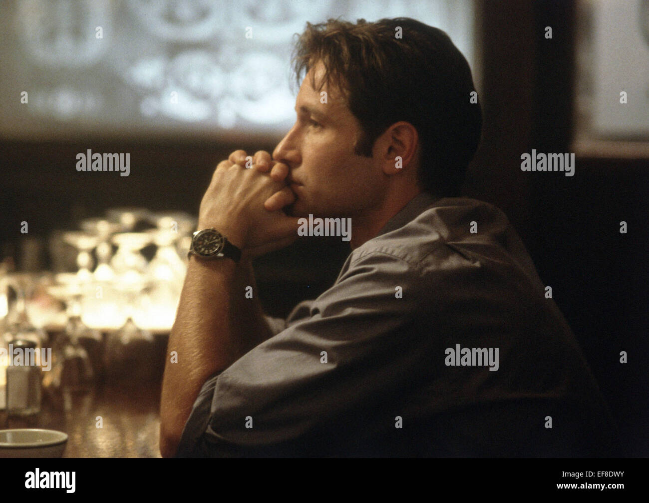DAVID DUCHOVNY THE X FILES; THE X-FILES: THE MOVIE (1998) - Stock Image