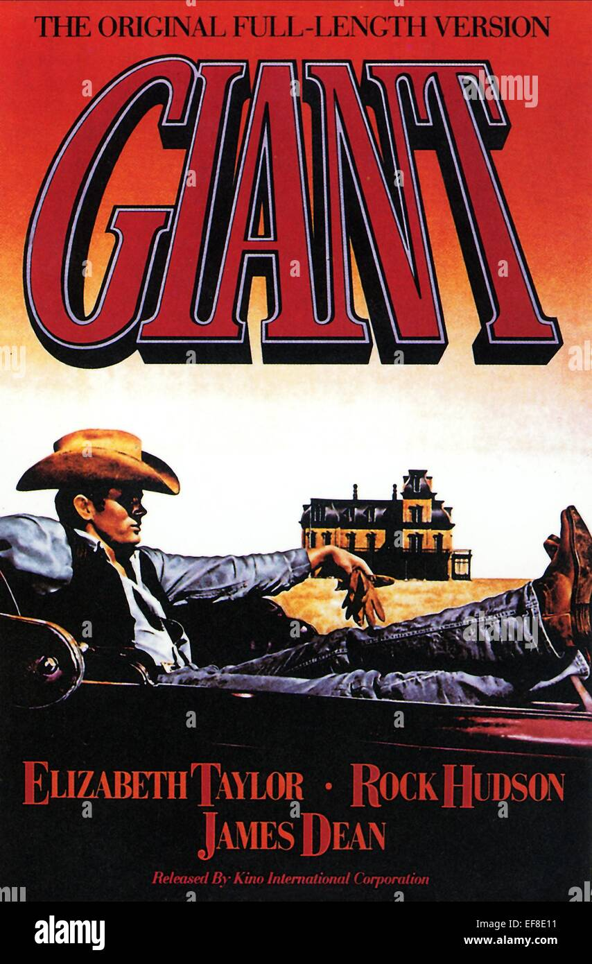 GIANT 1956 film with Elizabeth Taylor and James Dean this ...  Giant 1956 James Dean