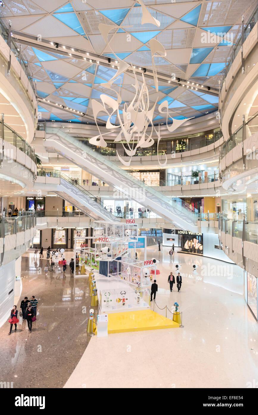IFC shopping mall interior in Shanghai, China 2014 - Stock Image