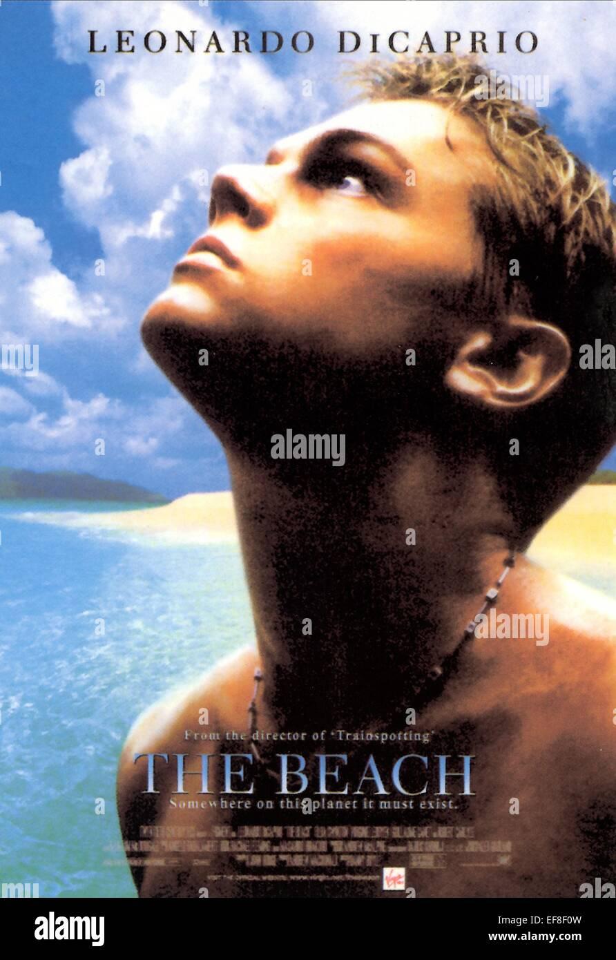 leonardo dicaprio poster the beach 2000 stock photo