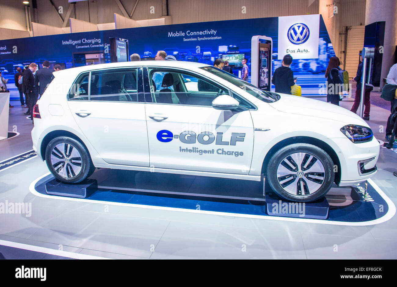 The Volkswagen EGolf Electric Car At The CES Show In Las Vegas - Vw car show las vegas