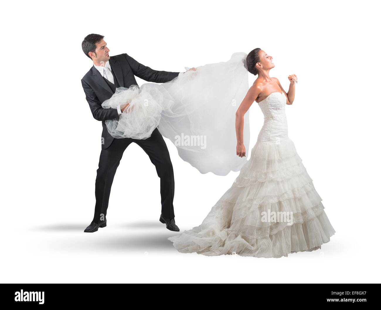 Bridal veil - Stock Image