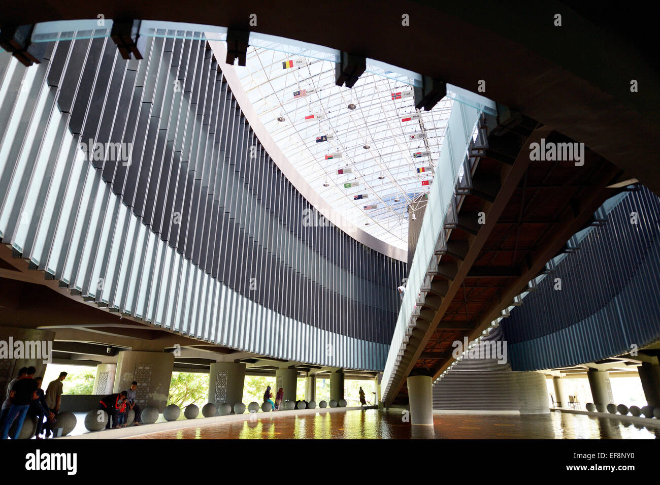 Interior of the Aceh Tsunami Museum reminds of the 2004 tsunami, Banda Aceh, Indonesia Stock Photo