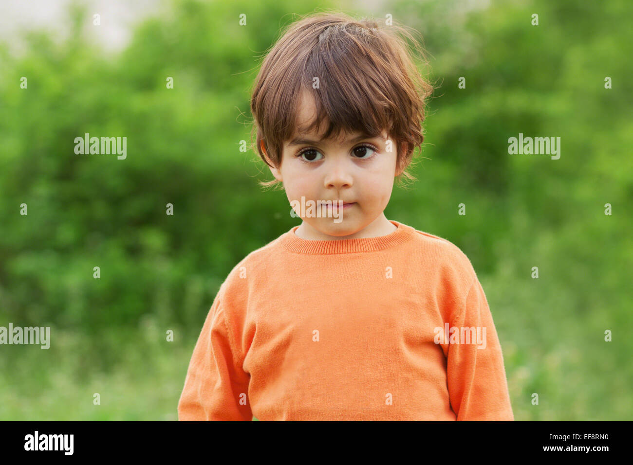 Boy (2-3) daydreaming - Stock Image