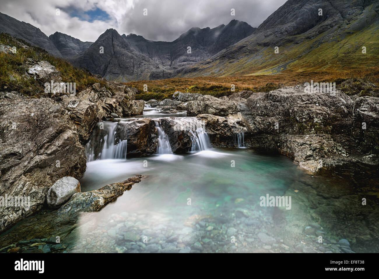 UK, Scotland, Highlands region, Isle of Skye, Fairy Pools - Stock Image
