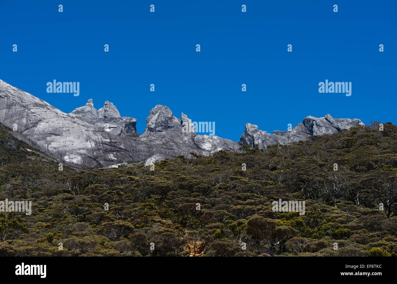 Borneo, Kota Kinabalu, View of mountains Stock Photo